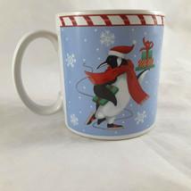 Sakura Holiday Penguin Oneida Coffee Mug Stephanie Stouffer Christmas Penguin - $11.87