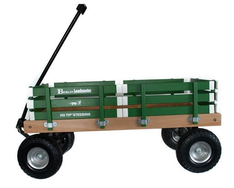 HEAVY DUTY LOADMASTER GREEN WAGON - Beach Garden Utility Cart AMISH MADE in USA