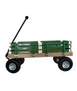 HEAVY DUTY LOADMASTER GREEN WAGON - Beach Garden Utility Cart AMISH MADE... - $330.18