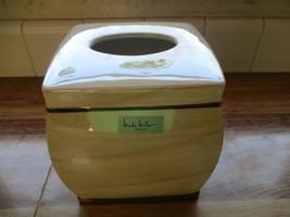 Nicole Miller Iridescent Beige Tissue Box Cover - $26.31 CAD
