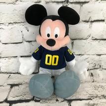 Disney Mickey Mouse Plush Soft Doll Michigan Football Jersey Stuffed Animal - $24.74