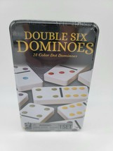 Double Six Dominoes 28 Colored Dots Cardinal Game Set 2 Player Age 8+ New Sealed - $15.99