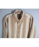 Lucky Brand Men's Size M Long Sleeve 100% Cotton Button-Front Shirt w/ P... - $20.00