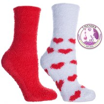 Non Skid Slipper Socks with Grippers — Lavender Infused Heart — 2 Pair - ₨974.49 INR+