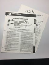 Black & Decker 1983 Owner's Manual Angle Sander Grinders in English and ... - $12.09