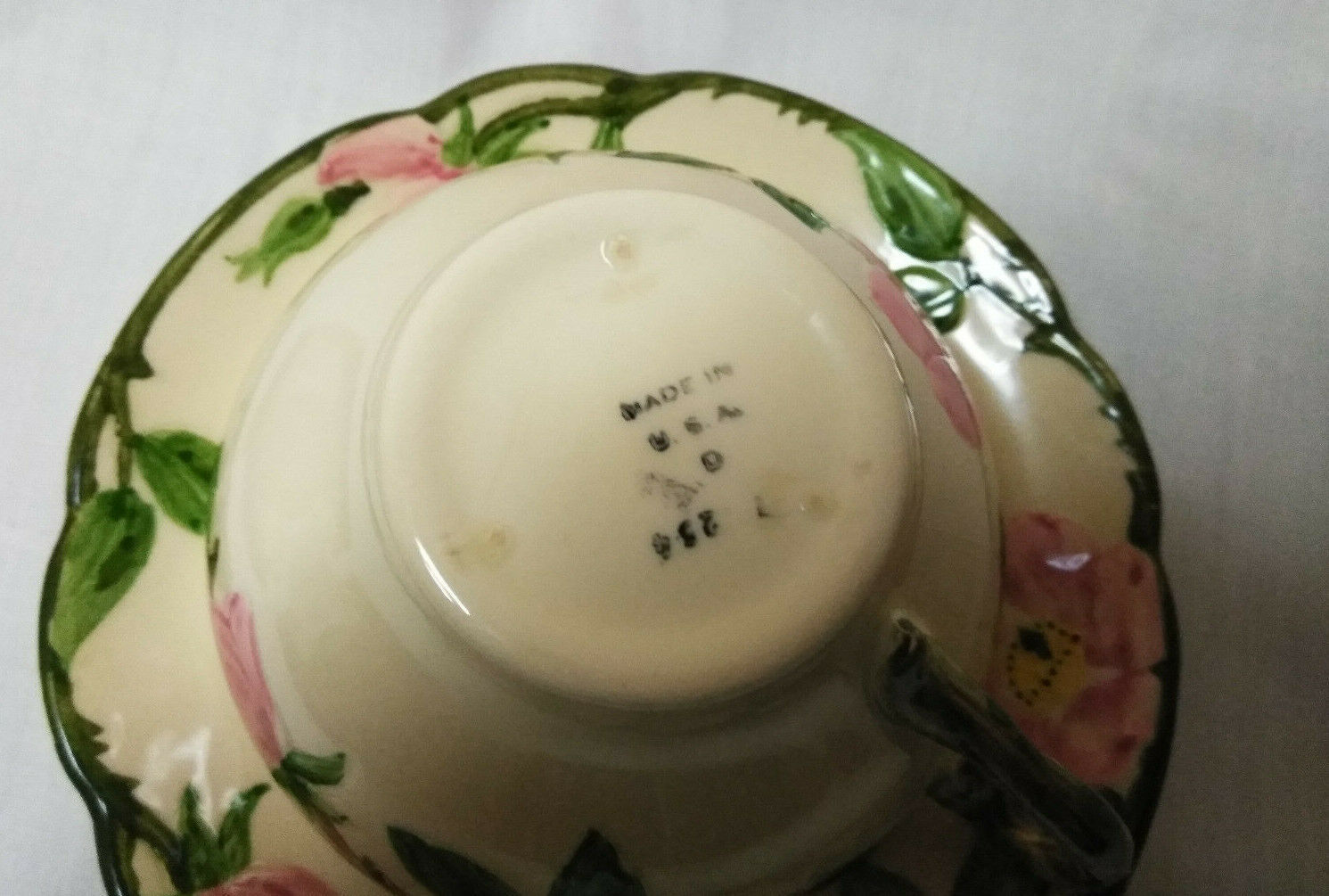 Vintage Franciscan China Set of 3 Tea cups & Saucers, Coffee cup Desert Rose