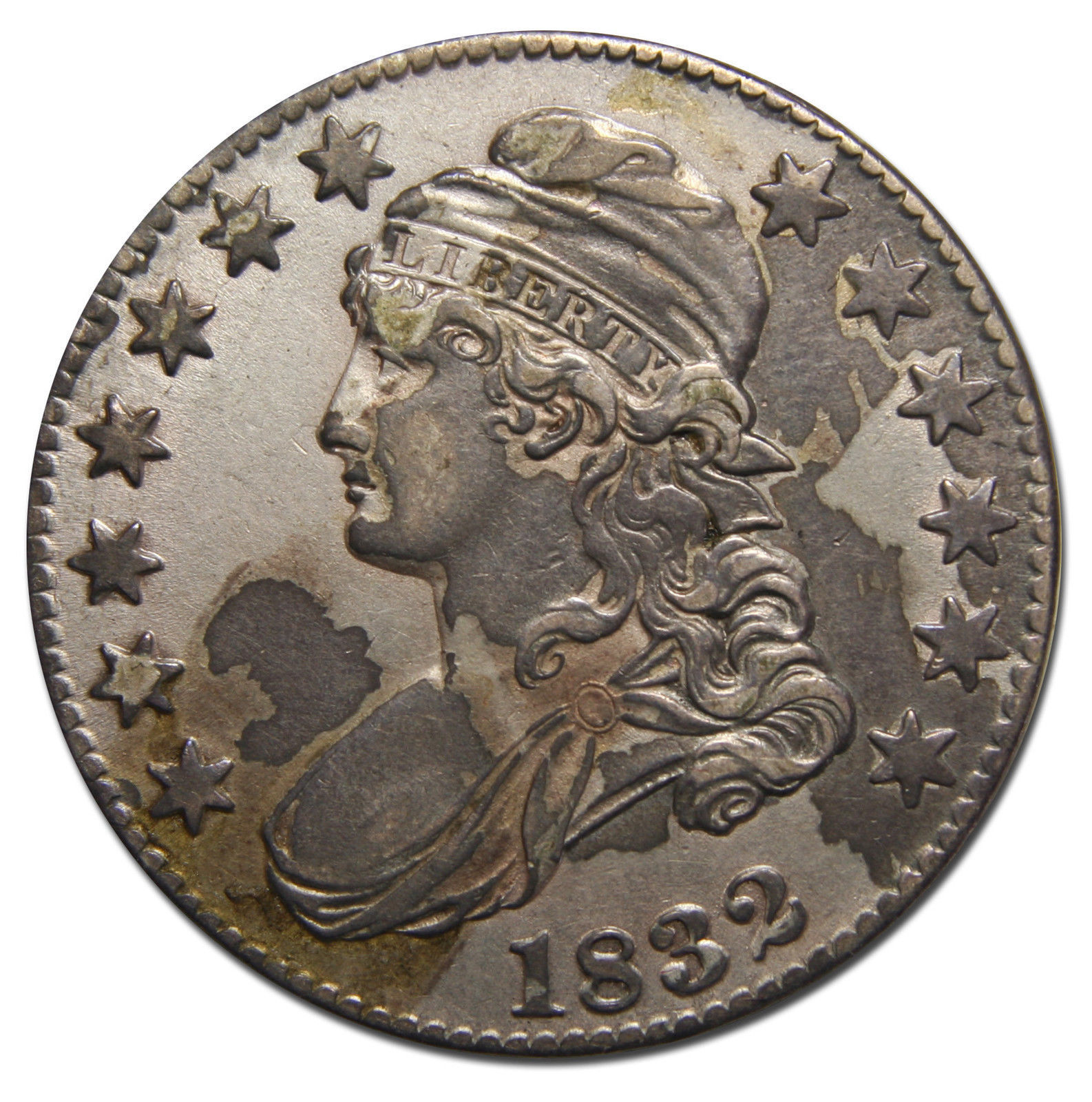 1832 Capped Bust Half Dollar 50¢ Coin Lot# MZ 3615
