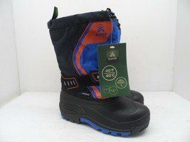 Kamik Boy's Rocket Winter Cold Weather Boot Black/Blue/Orange Youth Size 3M - $47.49