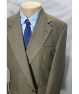 CITY CASUALS BY HAGGAR MEN'S SPORT COAT HOUNDSTOOTH BEIGE POLYESTER WOOL... - $39.19