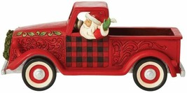 """Jim Shore 13.5"""" Long Large Red Truck Figurine  - Loads of Christmas Cheer image 2"""