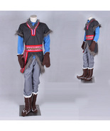 Frozen Kristoff Cosplay Costume Outfit Full Set - $134.05