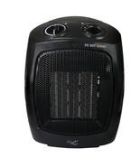 Vie Air 1500W Portable 2-Settings Office Black Ceramic Heater with Adjus... - $43.79