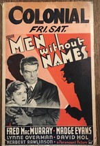 *MEN WITHOUT NAMES (1935) Window Card Fred MacMurray & Madge Evans Crime... - $195.00