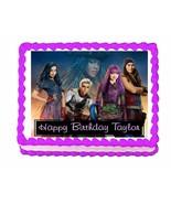 Disney Descendants 2 party edible cake image cake topper frosting sheet - $7.80