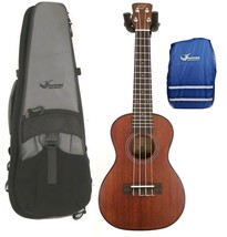 Journey UC310 - Solid Top Mahogany Concert Ukulele with Case and Rain Cover - $139.99