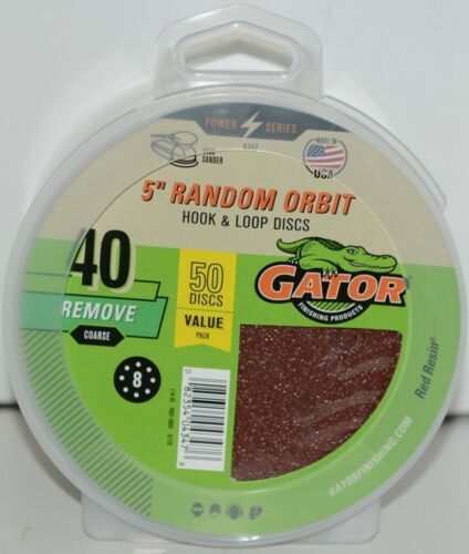 GATOR 4347 Random Orbit Hook Loop 40 Grit Remove Coarse 50 Sanding Discs