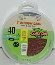 GATOR 4347 Random Orbit Hook Loop 40 Grit Remove Coarse 50 Sanding Discs image 1