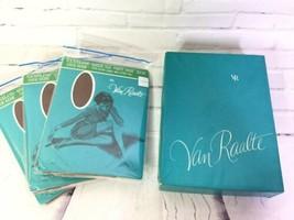 Vintage Van Raalte Vanilon 688 Cinnamon XLarge Queen Pantyhose Hosiery 3... - $59.39