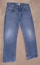 Signature Levi Strauss Blue Denim Straight Jeans Boys Size 10 Reg nb - $8.50