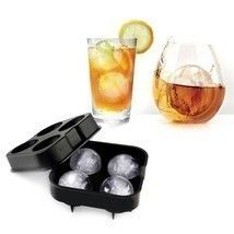 ICE Balls Maker Round Sphere Tray Mold Cube Whiskey Ball Cocktails Silicone - £3.86 GBP