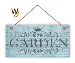 """Garden Sign, Rustic Style Ornate Garden Sign,  5"""" x 10"""" Wood Sign - $11.39"""