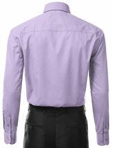 Berlioni Italy Men's Premium Classic Barrel Cuff Solid Lavender Dress Shirt image 5
