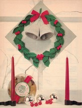 Colorful Christmas BELL WREATH Irish Crochet Pattern - $5.99
