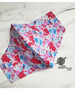Cotton Face Mask Rose Blue Floral Washable Flowers Print Handmade USA - $13.50