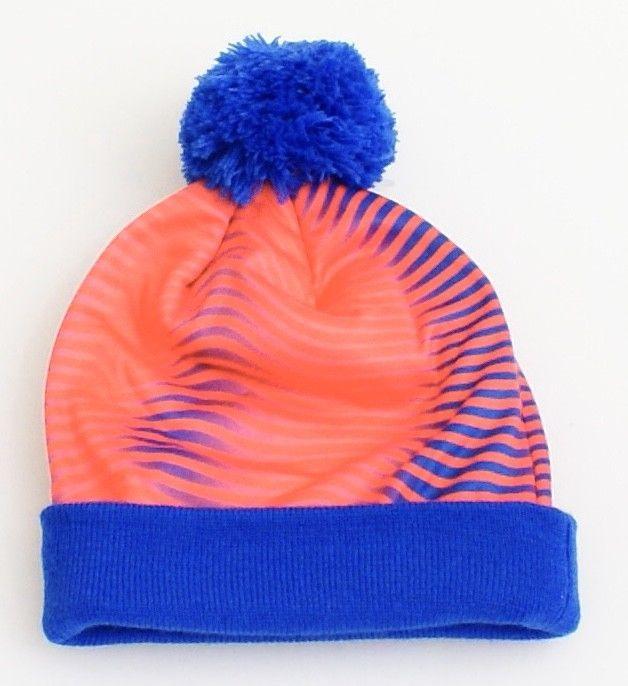 1fdc4f8f1b5 Nike Blue   Crimson Cuff Beanie Skull Cap with Pom Pom Youth Boy s ...