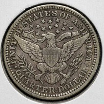 1911 Silver Barber Quarter Dollar 25¢ Coin Lot# CV41 image 2