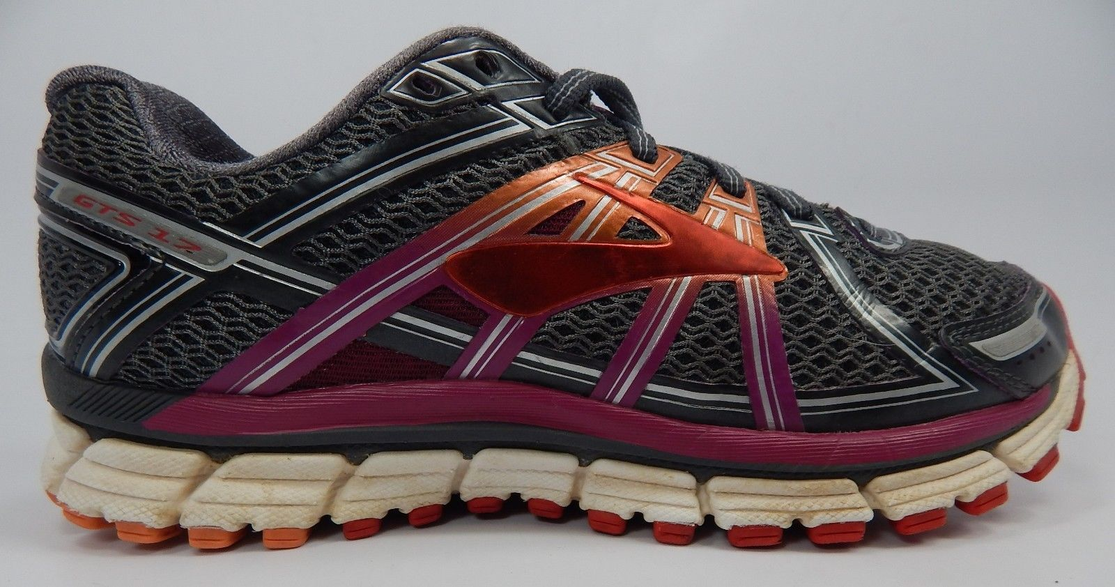 Brooks GTS 17 Size US 8 M (B) EU 39 Women's Running Shoes Gray Red  1202311B044 - $48.84