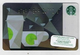 Starbucks Canada 2014 Braille Coffee Cups Gift Card No Value English French - $1.48