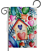 Wekcime Sweet Nest - Impressions Decorative Garden Flag G135474-BO - $19.97