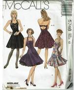 McCalls 5748 Sewing Pattern Misses Halter Dress Petticoat Size 10 UNCUT VTG - $11.64