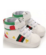 White Leather Baby Soft Bottom Walking Shoes Toddler Shoes Sports Shoes ... - $18.99