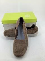 Easy Spirit 360 10M Shoes Esquillar Slip On Memory Wedge Metallic Bronze Weave - $26.17