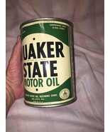 Vintage Late 1940s Quaker State Motor Oil 1 QT Metal Can Empty VGC a few... - $52.20
