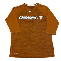 Nike Dri Fit Baseball Performance Tee Texas Longhorns Burnt Orange 3/4 S... - $24.74