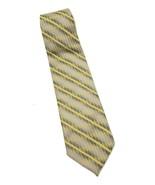 ERMENEGILDO ZEGNA Yellow Multi Striped 100% Silk Tie Made in Italy - $22.16