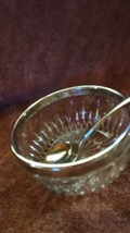 Silver Plate And Crystal 2 Pc Set - $10.40