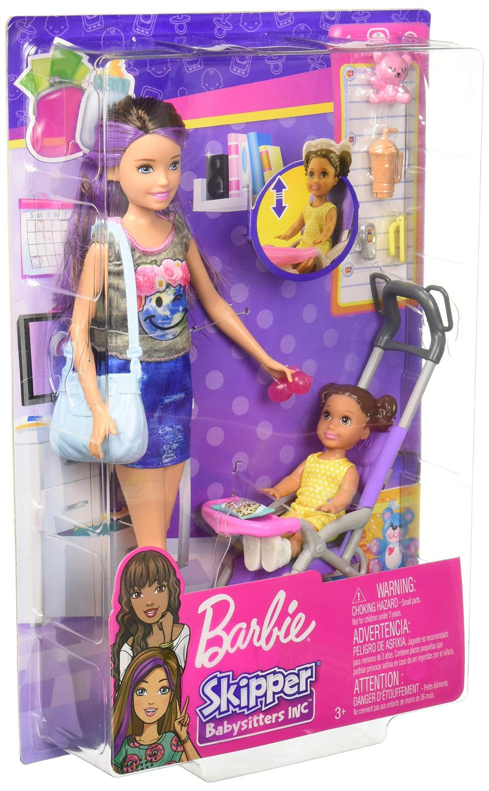Barbie Skipper Babysitters Inc. Doll and Stroller Playset ...