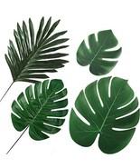 IcosaMro Palm Leaves Decorations 40Pcs Artificial Fake Tropical Palm Mon... - €28,39 EUR