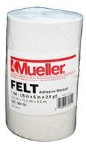 "Mueller Orthopedic Felt - Adhesive backed - 1/8"" x 6"" x 2.5 yd roll - $46.99"
