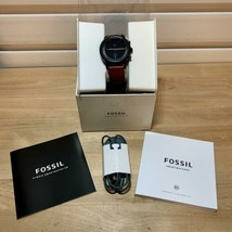 Fossil FTW7007 Hybrid Smartwatch HR Collider Watch, Tan Leather Band - $168.29