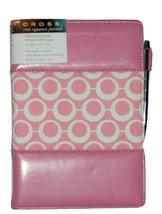 Cross modern pink dot lined Journal with Cross Pen set nwt - $41.83