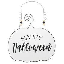"""""""happy halloween"""" Halloween Wood Sign 12*12.2 in Metal 280g for indoor &... - $18.91"""