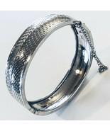 Vintage Coro Silver Tone Metal Bangle Bracelet - $21.19