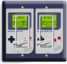 Video Game Boy Console Classic Nintendo Double Gfi Light Switch Plate Room Decor - $10.79
