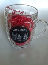 NEW 20 ounce beer mug cold beer mashing lautering brewing Glass Open Han... - $26.47