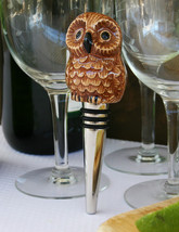 POTTERY BARN OWL BOTTLE STOPPER -NIB-  WHO WHO WOULDN'T GIVE A HOOT ABOU... - $19.95
